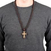 Kreuzkette aus Holz Rubinyan